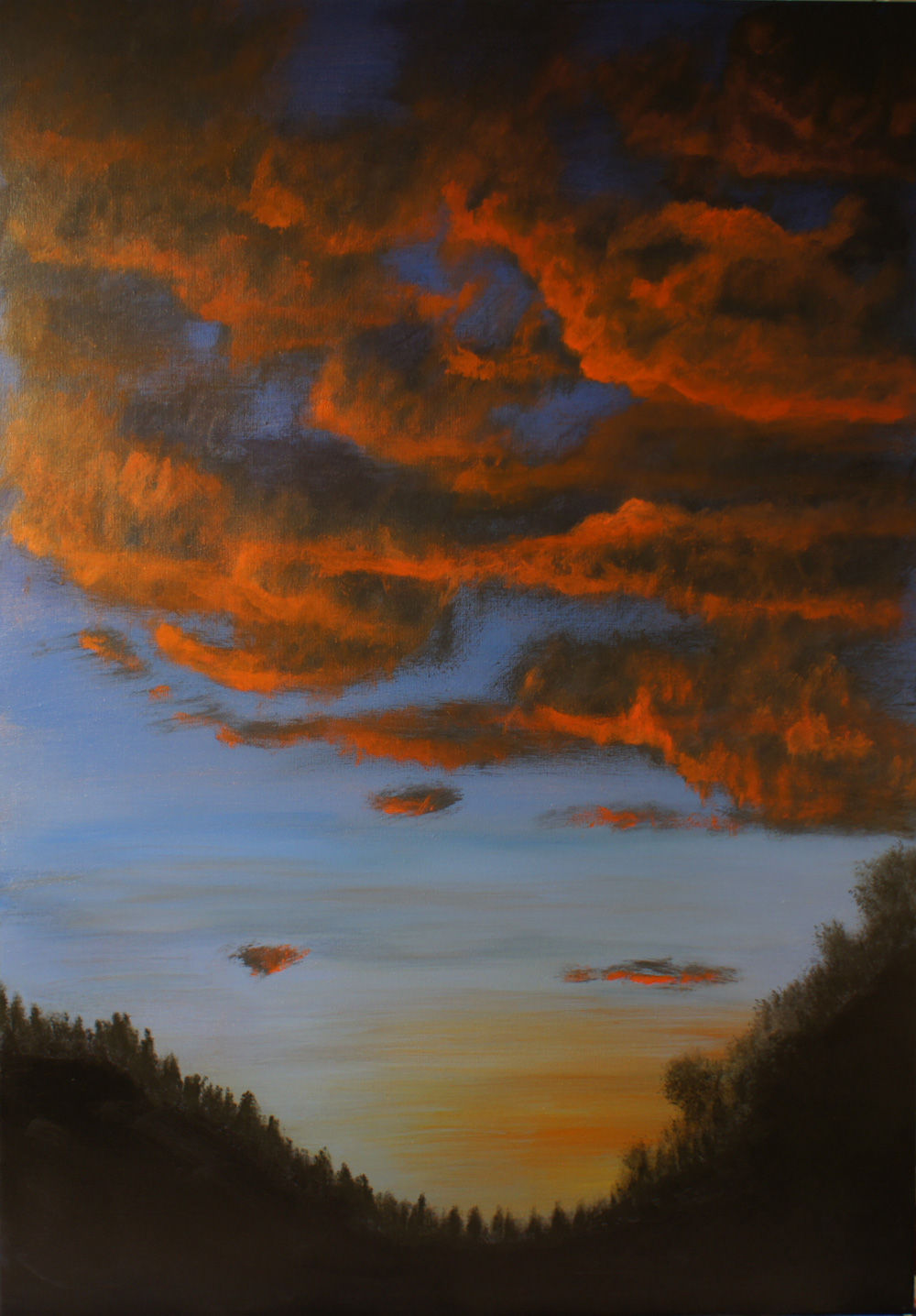 "acrylmalerei landschaftsmalerei bildtitel ""himmel in"