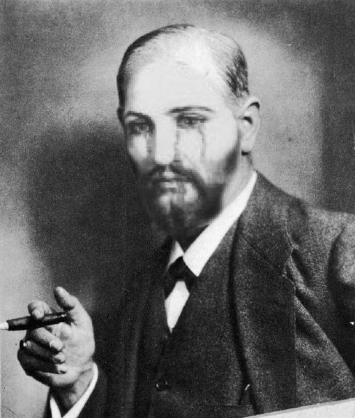 Jesus, Zigarre, Freud, Mischtechnik