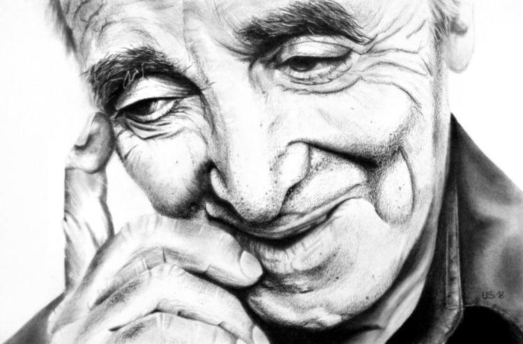 Blick, Erinnerung, Charles aznavour, Augen, Malerei