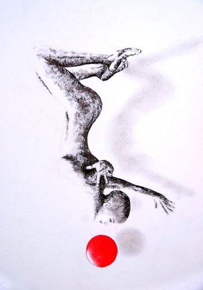Frau, Tanz, Körper, Malerei