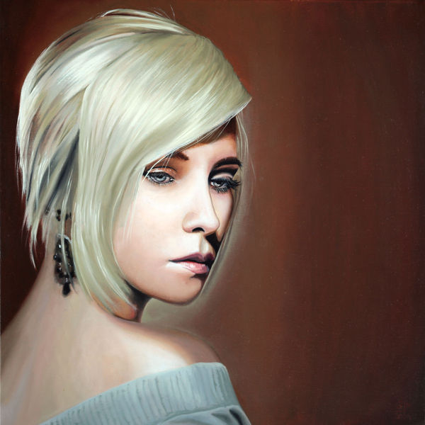 Marci wuu, Portrait, Maki art studio, Lady shizuka, Berlin, Ölmalerei