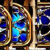 Glaubensfenster - fenstert, stahl, blau, traum, gitter, blumen, romantik, glauben, hoffen,Gott,Gotteshaus,, blume