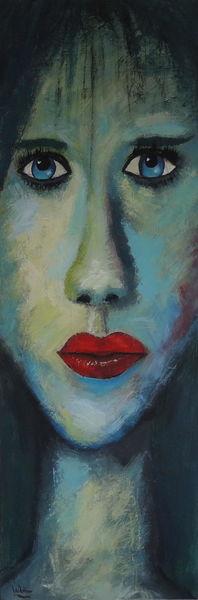 Grün, Nase, Rote lippen, Blau, Rot, Geheimnissvoller blick
