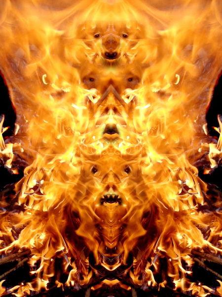 Reflexion, Lagerfeuer, Flammen, Elemente, Flammend, Feuer