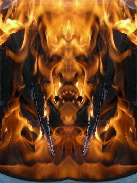 Elemente, Spiegelbild, Mystik, Natur, Flammen, Fantasie