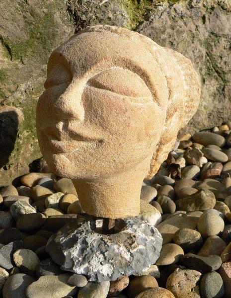 Stein, Figur, Kopf, Plastik, Stein skulpturen,