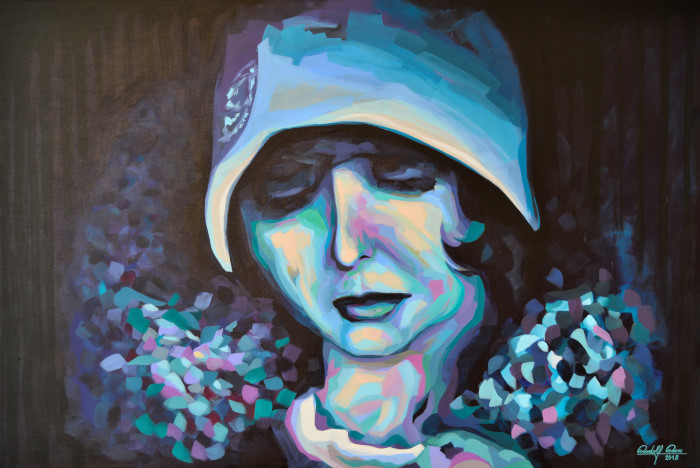 Portrait, Gemälde, Porträtmalerei, Zeitgenössisch, Frau, Malerei