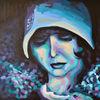 Zeitgenössisch, Frau, Malerei, Portrait