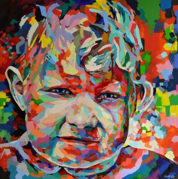 Abstrakt, Zeitgenössisch, Portrait, Palette, Popart, Acrylmalerei