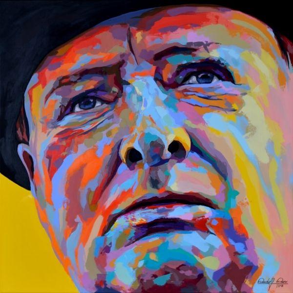 Malerei, Porträtmalerei, Portrait, Expressionismus, Acrylmalerei,