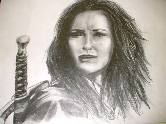 Schwert, Portrait, Malerei
