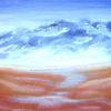 Weite, Landschaft, Tal, Malerei