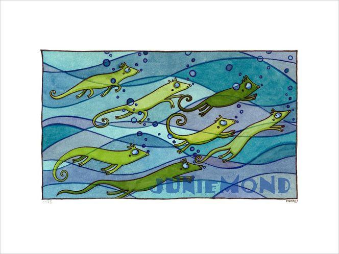 Welle, Grün, Wasser, Türkis, Tauchen, Blau