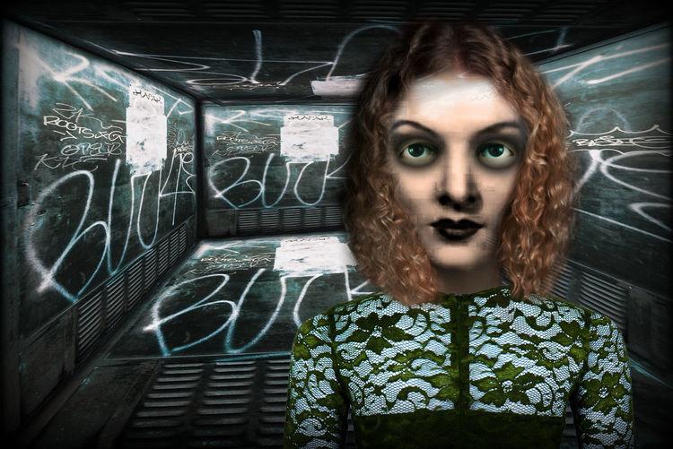 Expressionismus, Himmel, Nouveau, Portrait, Digitale kunst