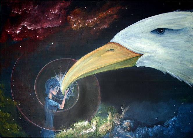 Flügel, Schutz, Farben, Traum, Geist, Frau