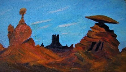 Landschaft, Schlucht, Himmel, Malerei