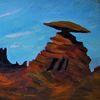 Himmel, Landschaft, Schlucht, Malerei