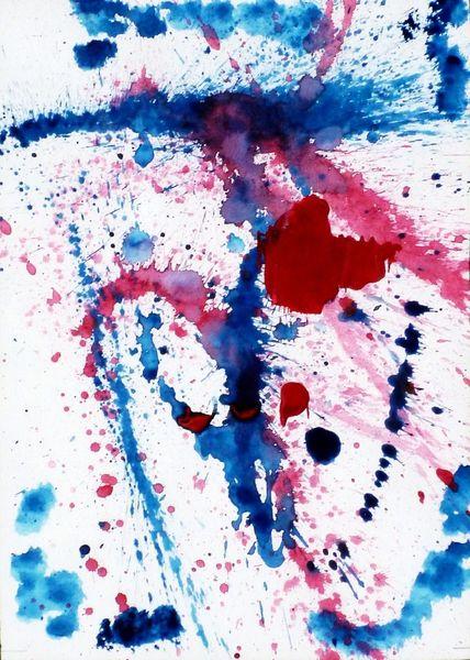 Farben, Rot, Blau, Edelstein, Aquarell
