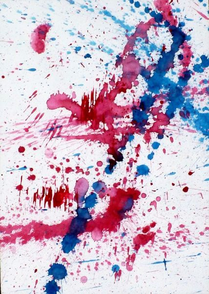 Edelstein, Farben, Rot, Blau, Aquarell