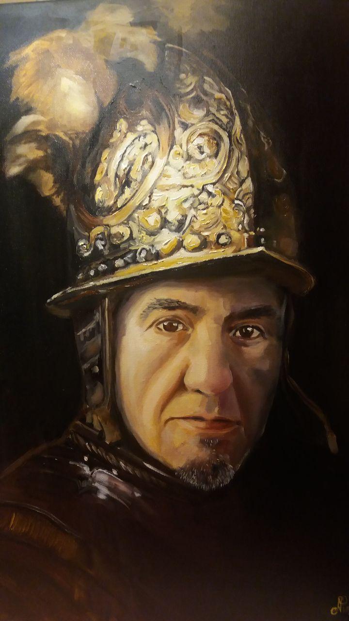 Der Mann Mit Dem Goldhelm Farben Gemälde Menschen Malerei Von