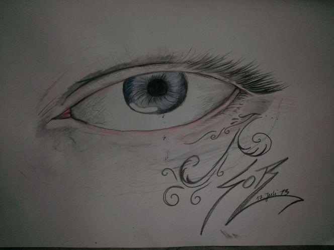 Zeichnungen, Augen, Worte, Sagen