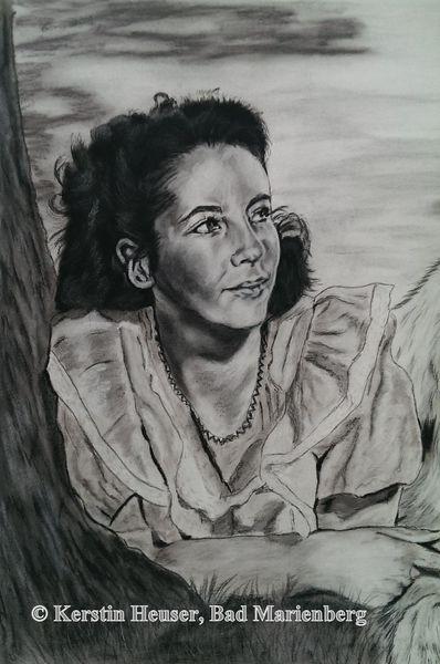 Portrait, Zeichnung, Schwarz weiß, Heimweh, Hälfte, Zeichnungen