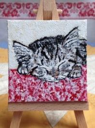 Katze, Malerei, Träumer,