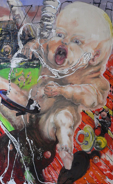 Alpamänchen, Macht, Symbolik, Baby, Menschen, Malerei
