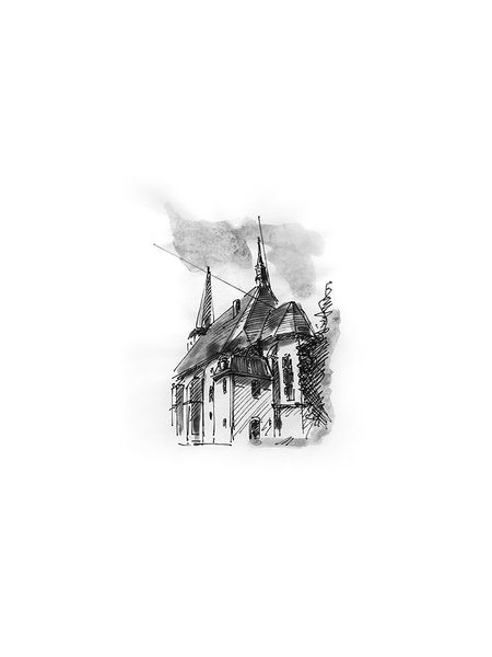 Architektur, Herder, Kirche, Illustration, Illustrationen