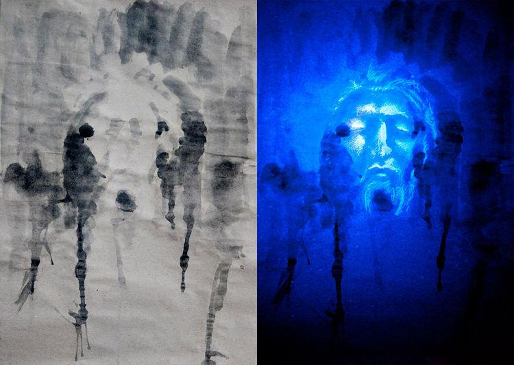 Illustration, Portrait, Illustrationen, Ultraviolet,