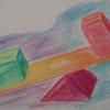 Gleichgewicht, Aquarellmalerei, Wippen, Viereck