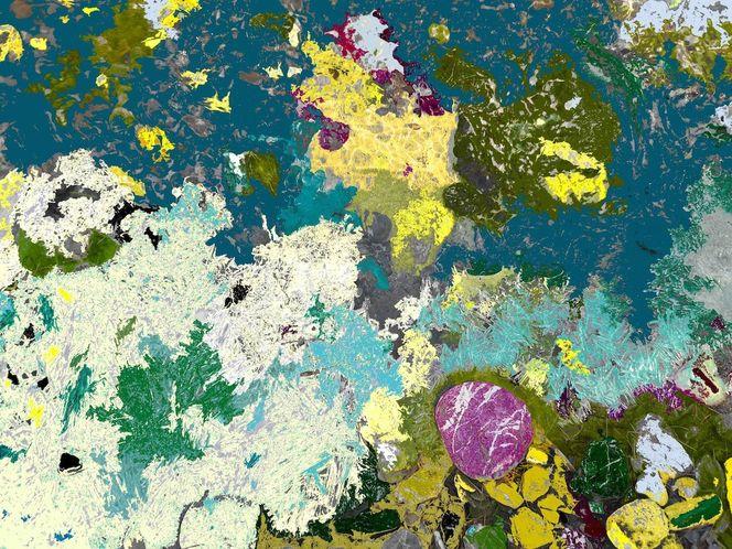 Zerbrechliche existenz, Wachsende kristalle, Gliomblastisch, Digitale kunst
