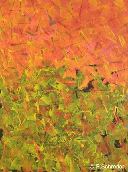 Abstrakt, Rot, Gelb, Malerei