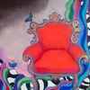 Rot, Sessel, Malerei
