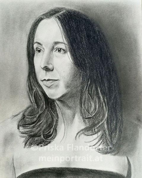 Realismus, Zeichnung, Grafit, Portraitzeichnung, Selbstportrait, Frau