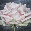 Blumen, Realismus, Rose, Aquarellmalerei