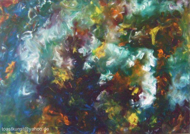 Ölmalerei, Mischtechnik, Bunt, Malerei, Traum, Spachtel