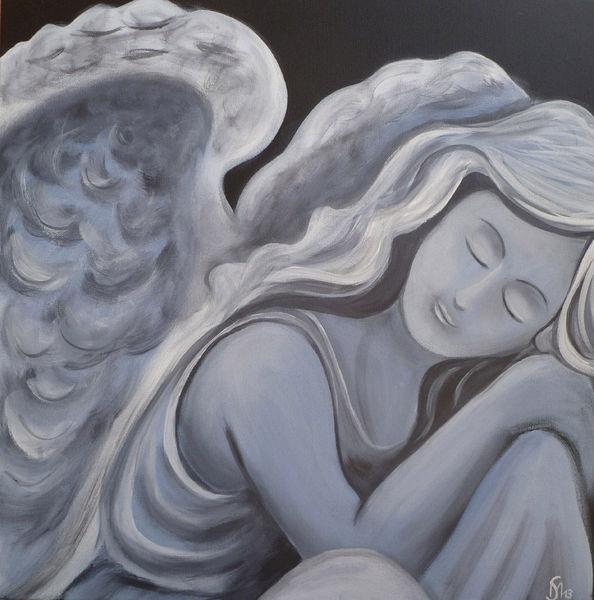 Traum, Acrylmalerei, Engel, Frieden, Malerei