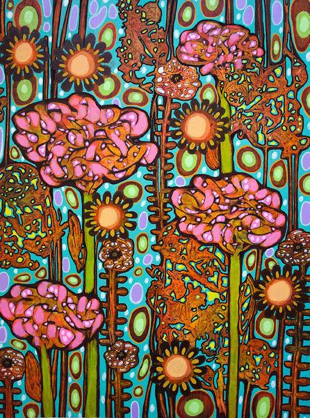 Fantasie, Blumen, Frühling, Malerei
