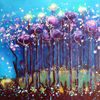 See, Licht, Pflanzen, Acrylmalerei