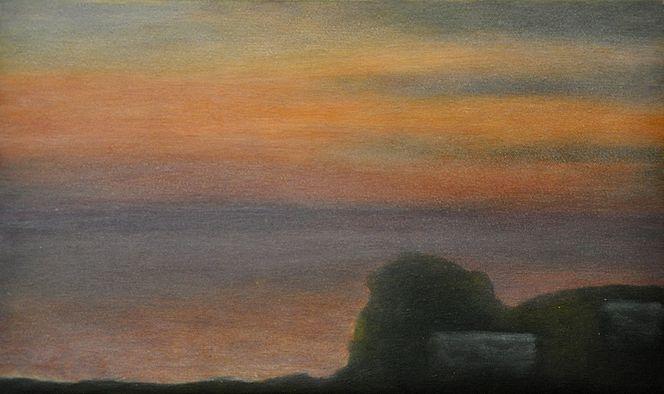 Meer, Griechenland, Wolken, Sonnenuntergang, Malerei