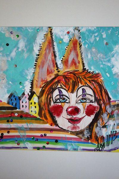 Clown, Bunt, Köln, Dom, Malerei,