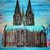 Dom, Bunt, Köln, Blau