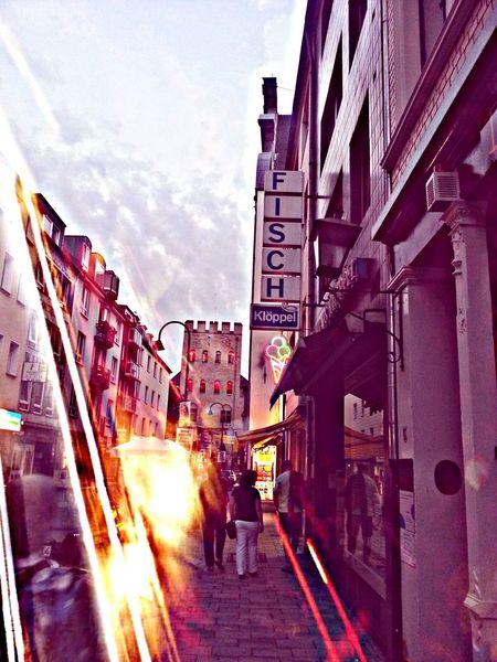 Abstrakt, Licht, Abendlicht, Köln, Fotografie, Stadtlandschaft