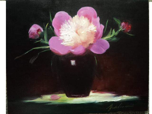 Modern, Idylle, Bujorin, Insekten, Blumen, Malerei