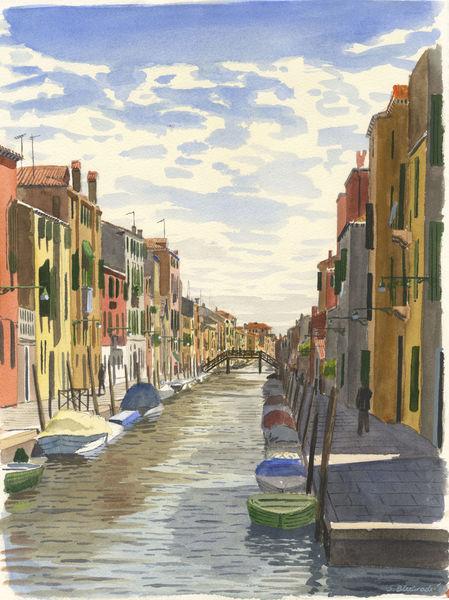 Farben, Realismus, Gemälde, Venezia, Venedig, Architektur