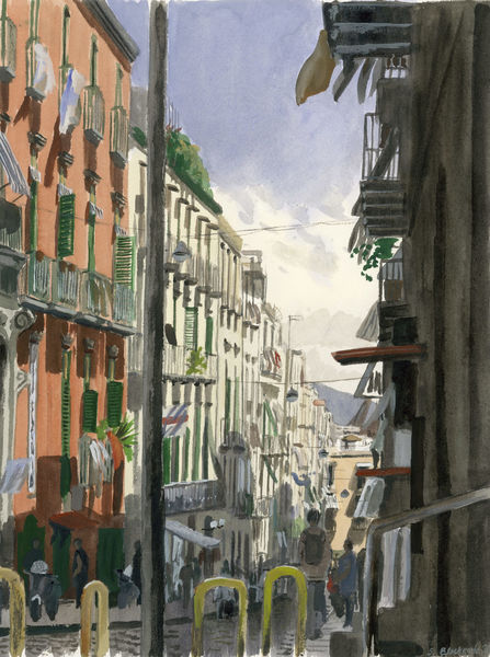 Farben, Menschen, Italien, Figurativ, Realismus, Stadtlandschaft