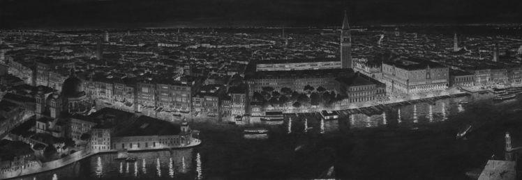 Venedig, Zeichnung, Malerei, Venezia, Italien, Wasserfarben