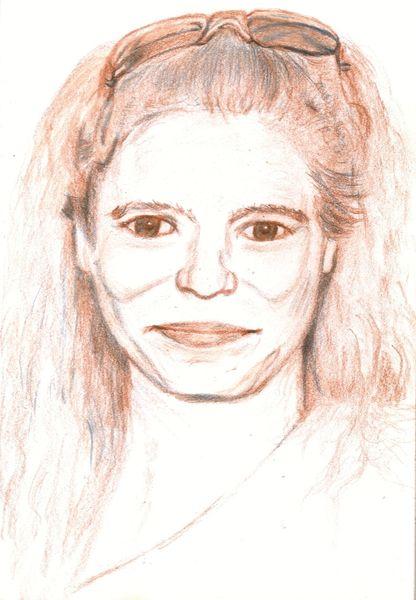 Portrait, Selfie, Menschen, Frau, Zeichnungen
