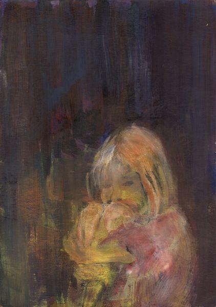 Menschen, Kind, Einsamkeit, Angst, Malerei